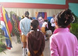 Homenaje a Hugo Chávez Frías desde la capital de Mayabeque sj 1