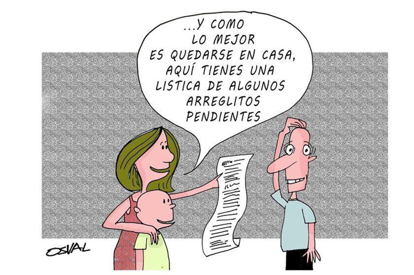 Caricatura sobre la prevención y la responsabilidad frente a la pandemia mundial de la COVID-19