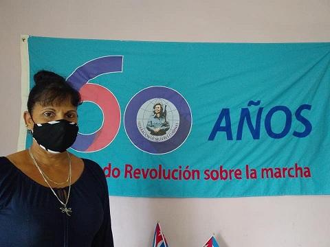 Ana Rosa González Alfonso, Secretaria de la Federación de Mujeres Cubanas en la capital de Mayabeque