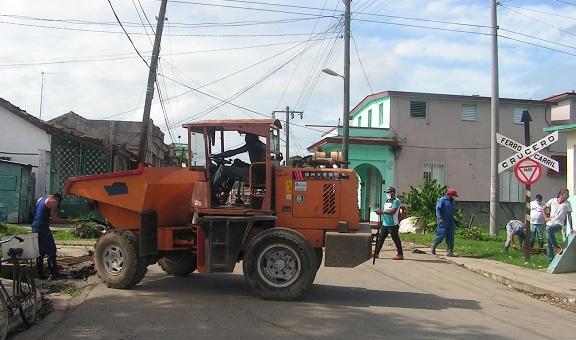 Labores de desobstrucción en San José de las Lajas ante presencia de fenómeno meteorológio Eta