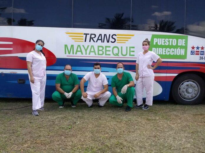 De izquierda a derecha: Roxana figueroa Rojas, Yaser Ibarra Amador, Yoendy Vasallo Camacho, Abigail Marcheco Gonzalez, Yailin Mejias Farrada